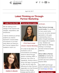 engage channel partners with newsletters